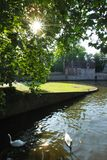 Beguinage in Bruges, Belgium Royalty Free Stock Images