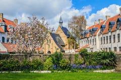 Beguinage Diksmuide, Belgium. Stock Image