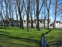 Beguinage em Bruges Fotografia de Stock