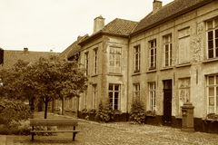 Beguinage in Lier, Belgium. Stock Photography