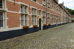 The Beguinage of Lier, Belgium. A street at the Beguinage of Lier, Belgium Stock Photo