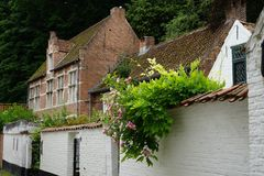 At the beguinage of Lier, Belgium. Royalty Free Stock Photo