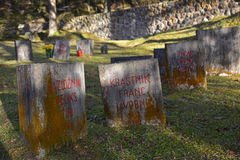 Begunje Hostages Cemetery Royalty Free Stock Photos