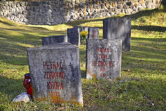 Begunje Hostages Cemetery Royalty Free Stock Images