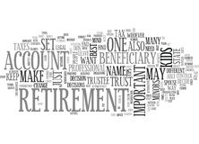 Begunstigde van Uw Pensioneringsuiteinden in Meningsword Wolk Te houden royalty-vrije illustratie