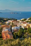 Begur with Castle, a typical Spanish town in Catalonia, Spain Royalty Free Stock Photo