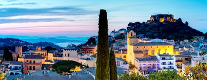Begur, Costa Brava, Catalonia Spain At Evening, Beatifull View Stock Image