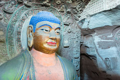 BEHÄLTER, CHINA - 1. NOVEMBER 2014: Behälter-Grafschafts-Höhlen-Tempel (UNESCO-Welt sie Stockfoto