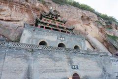 BEHÄLTER, CHINA - 1. NOVEMBER 2014: Behälter-Grafschafts-Höhlen-Tempel (UNESCO-Welt sie Lizenzfreies Stockbild