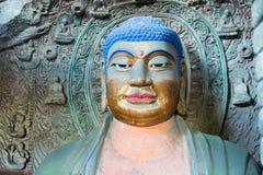 BEHÄLTER, CHINA - 1. NOVEMBER 2014: Behälter-Grafschafts-Höhlen-Tempel (UNESCO-Welt sie Lizenzfreies Stockfoto