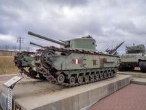 Behälter an den Militärmuseen, Calgary Stockfotografie