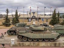 Behälter an den Militärmuseen, Calgary Lizenzfreie Stockfotografie