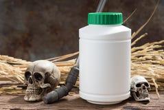 Behälter der Chemikalie stockbild