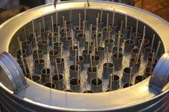 Behälter der RohrEiscreme Stockfoto