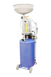 Behälter für benutztes Kurbelkastenöl Lizenzfreies Stockfoto