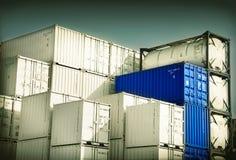 Behälter für Frachttransport Stockfotos