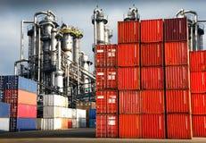 Behälter für Frachttransport Lizenzfreie Stockbilder