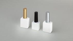 Behälter für Kosmetik mit Kappe Stockfoto