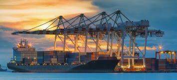 Behälter-Frachtfrachtschiff stockfoto