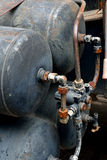 Behälter Gas mit Rohr stellte in Ausrüstung ein Lizenzfreie Stockfotografie