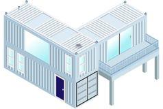 Behälter-Haus stock abbildung