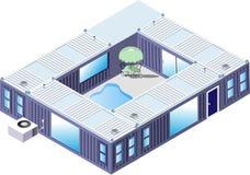 Behälter-Haus vektor abbildung