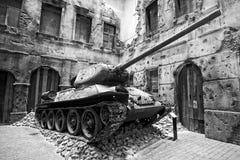 Behälter im Museum des zweiten Weltkriegs in Gdansk Stockfoto