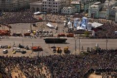 Behälter am 70. Jahrestag Victory Parade, Moskau, Russland Stockbild