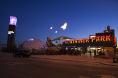 Behälter-Park in Las Vegas, Nanovolt am 10. Dezember 2013 Lizenzfreie Stockfotos