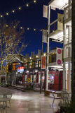 Behälter-Park nachts in Las Vegas, Nanovolt am 10. Dezember 2013 Stockbild