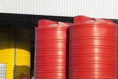 Behälter-Plastik groß Stockbild