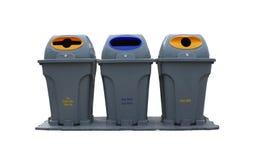 Behälter Recycle weißen tbackground lokalisiert lizenzfreie stockfotos