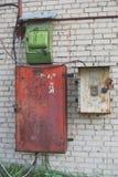 Behälter steuert Strom Stockfoto