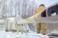 Behälter su-76 ist ein Soldattanker Stockbilder