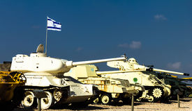 Behälter in Yad-La--Shiryongepanzertem Korps-Museum bei Latrun, Israel Lizenzfreies Stockfoto