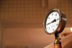 Behälterdruckmeßinstrument. Lizenzfreies Stockfoto
