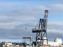 Behälterkranhafen logistisch Stockfotografie