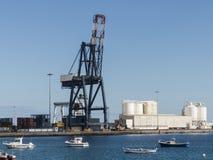 Behälterkranhafen logistisch Stockbilder