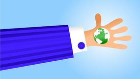 behändig värld stock illustrationer