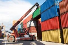 Behållare ar på hamnen, frakt Transportatio Arkivbild