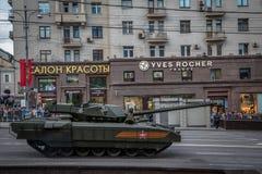 Behållare för Armata T-14 huvudsaklig ryssstrid Fotografering för Bildbyråer
