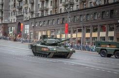 Behållare för Armata T-14 huvudsaklig ryssstrid Arkivfoto