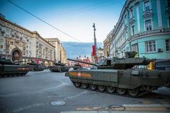 Behållare för Armata T-14 huvudsaklig ryssstrid Arkivbilder