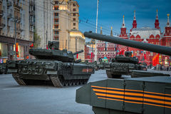 Behållare för Armata T-14 huvudsaklig ryssstrid Arkivbild