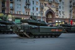 Behållare för Armata T-14 huvudsaklig ryssstrid Arkivfoton