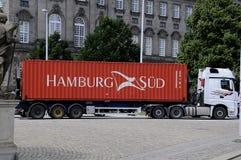 BEHÅLLARE för HAMBURG Sï ¿ ½ D Arkivfoton