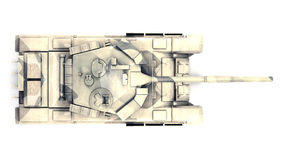 Behållare för huvudsaklig strid som T-90 isoleras på vit bakgrund Arkivfoton