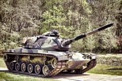 Behållare för strid för amerikansk stridarmé för M60 Patton huvud Arkivfoton