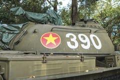 Behållare för vietnames T-54 på självständighetslotten Arkivfoto