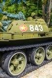 Behållare för vietnames T-54 på självständighetslotten Royaltyfria Bilder